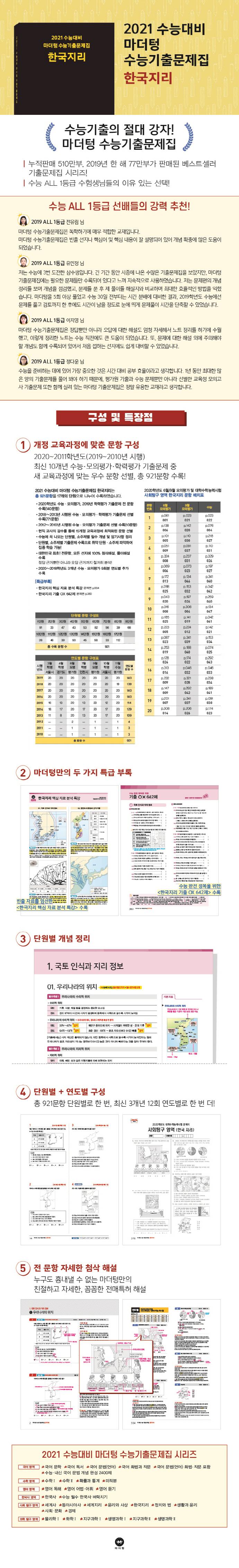고등 정치와 법 수능기출문제집(2020)(2021 수능대비)(마더텅) 도서 상세이미지