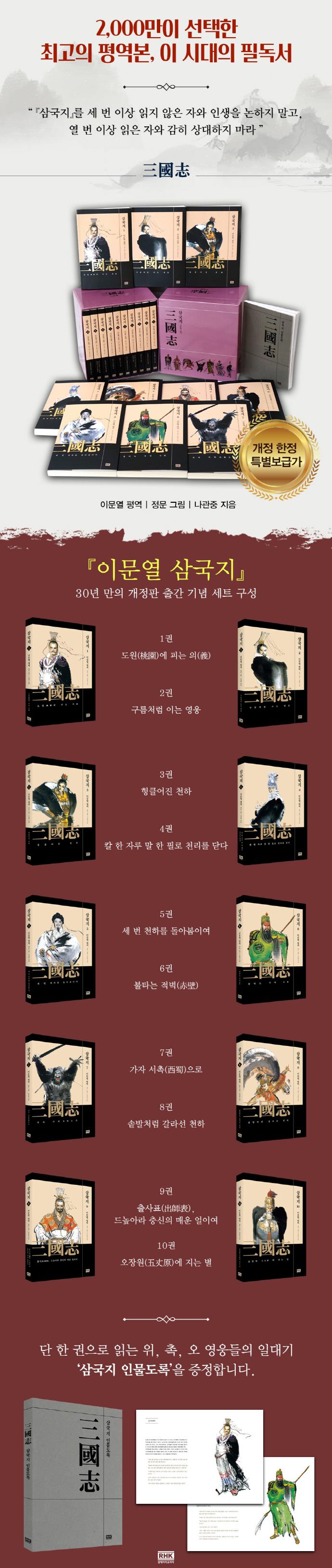 이문열 삼국지 세트(특별 한정 보급판)(전10권) 도서 상세이미지
