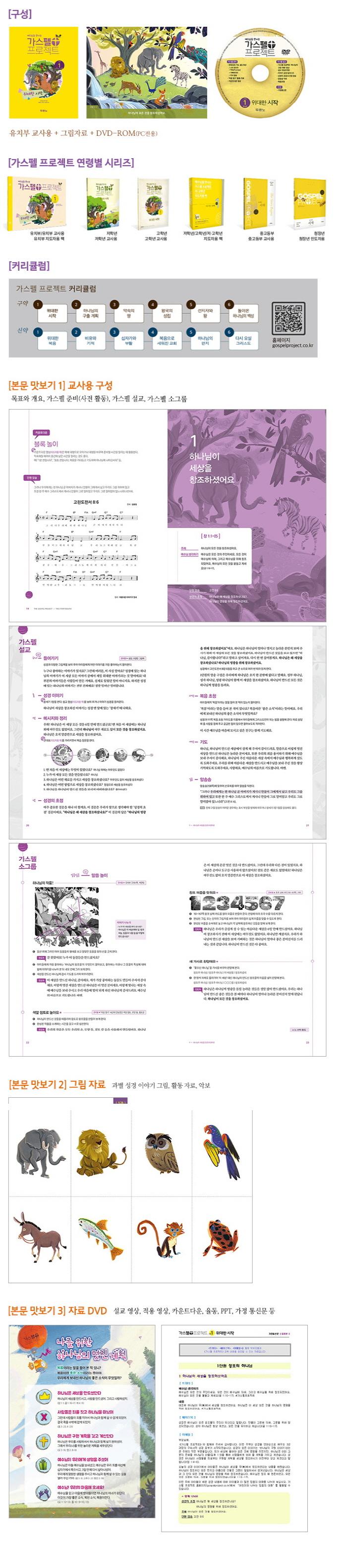 예수님을 만나는 가스펠 프로젝트 구약. 1: 위대한 시작(유치부 지도자용 팩) 도서 상세이미지
