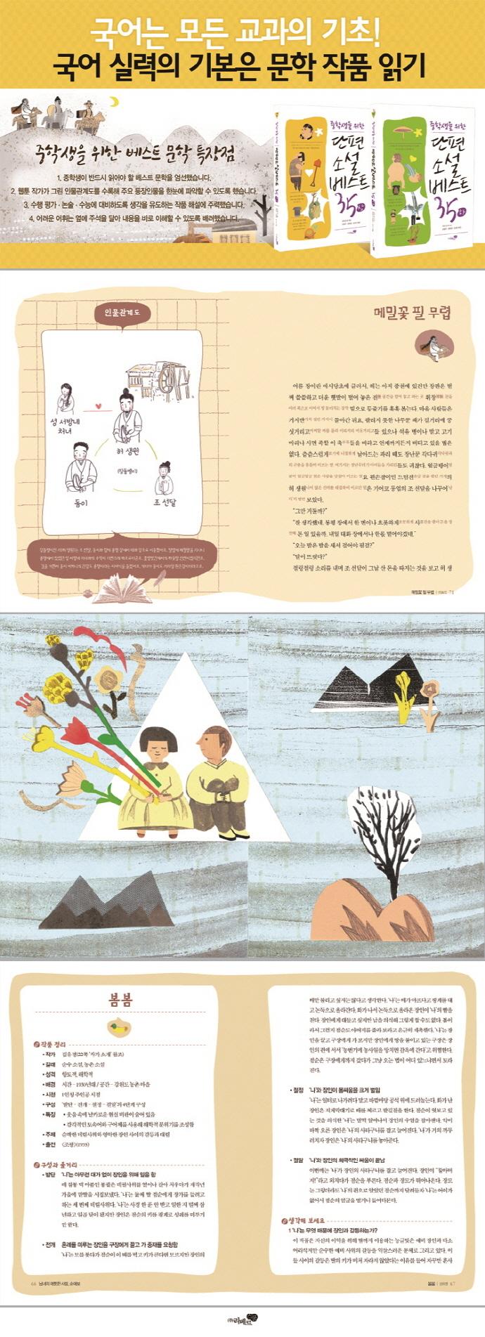 단편소설 베스트 35 세트(중학생을 위한)(전2권) 도서 상세이미지