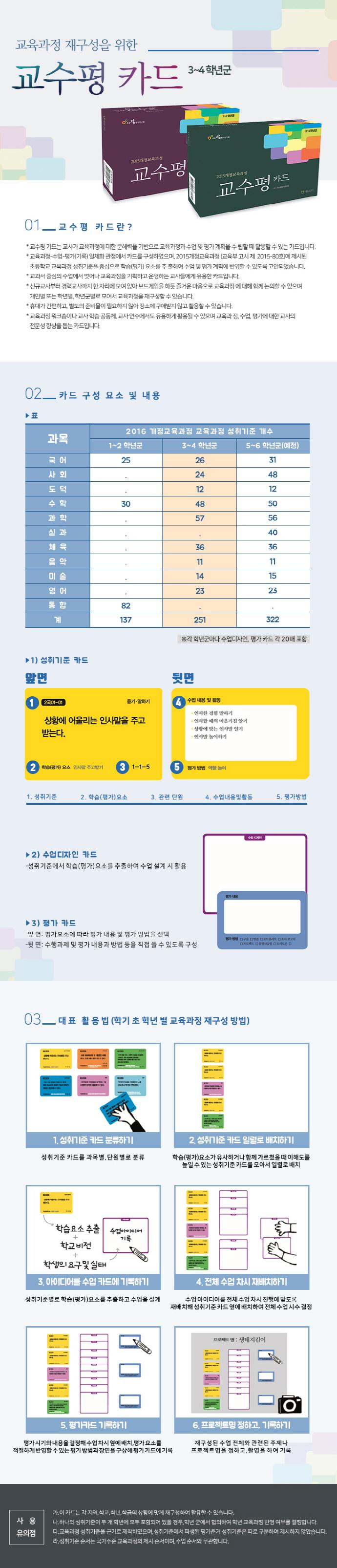 교수평 카드(3~4학년군) 도서 상세이미지