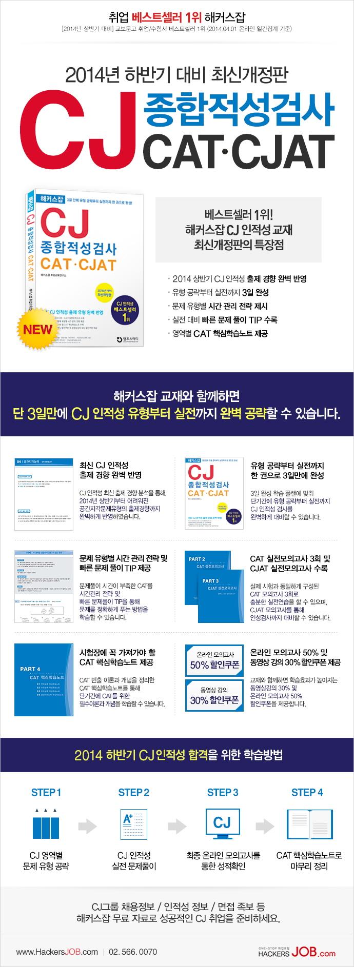 CJ 종합적성검사 CAT CJAT(2015)(해커스잡) 도서 상세이미지