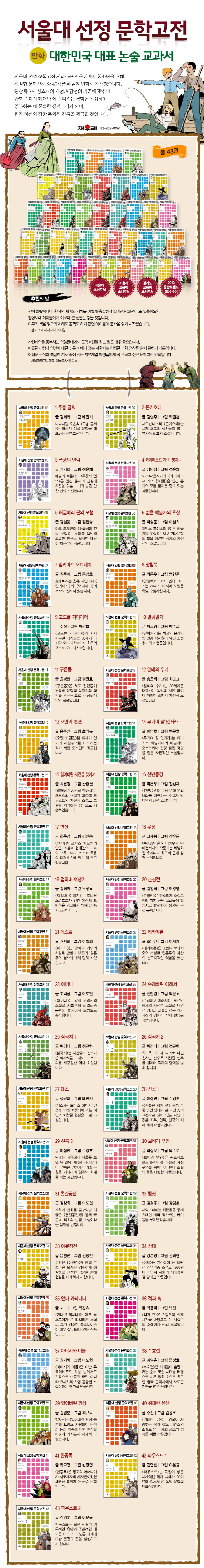서울대 선정 문학고전 세트(전43권) 도서 상세이미지