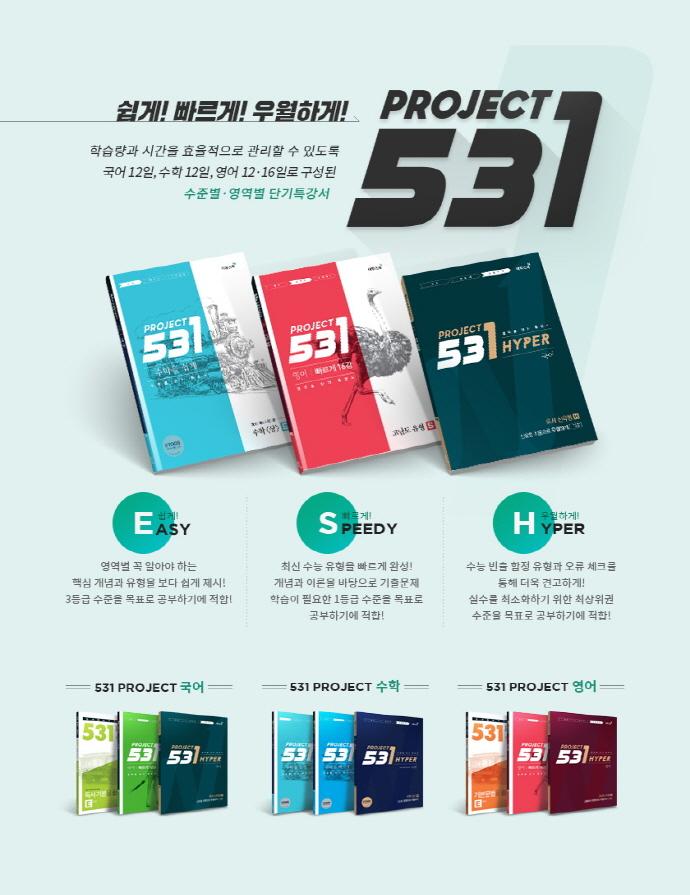 531 Project(프로젝트) 고등 수학(하) H(Hyper)(2021) 도서 상세이미지