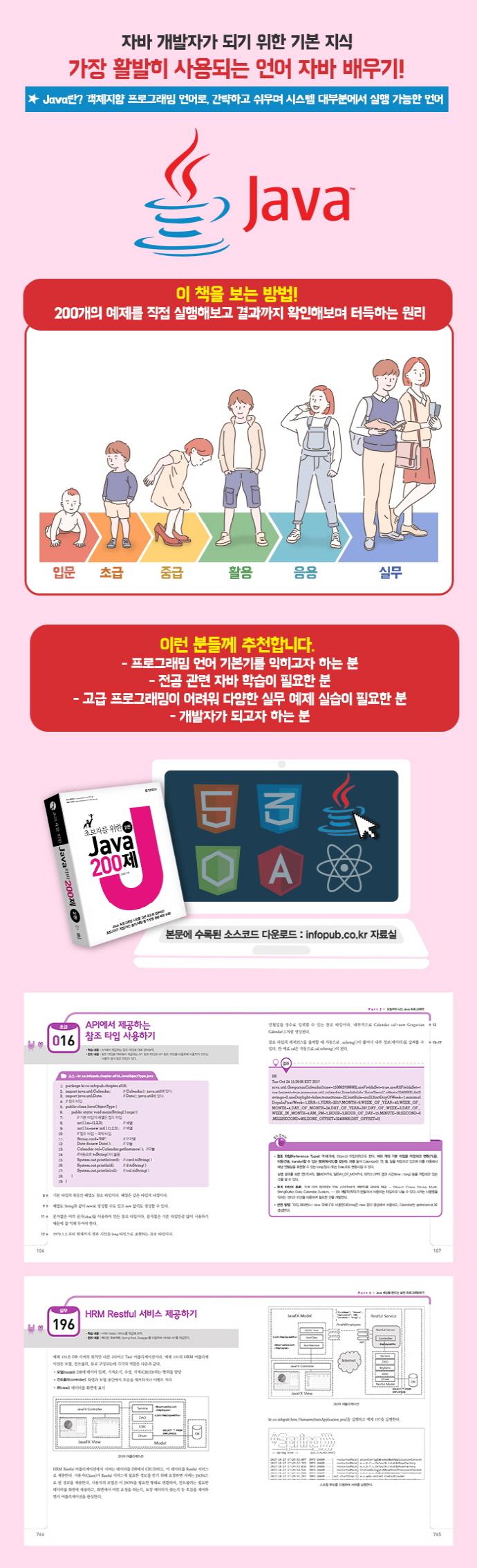 Java 200제(초보자를 위한)(2판) 도서 상세이미지