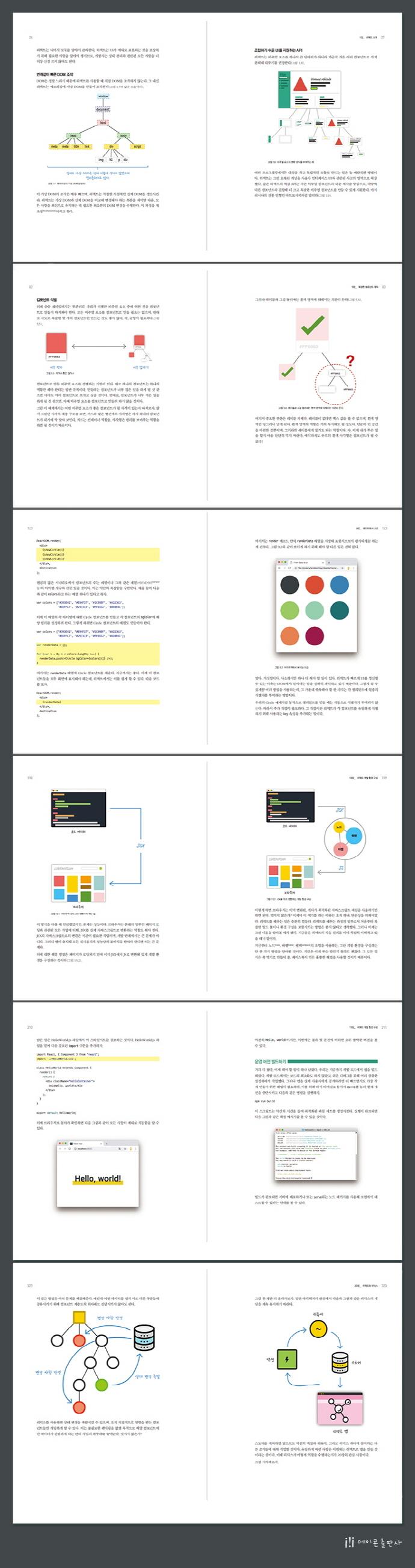 리액트 웹앱 제작 총론 2/e(2판)(오픈소스 프로그래밍) 도서 상세이미지