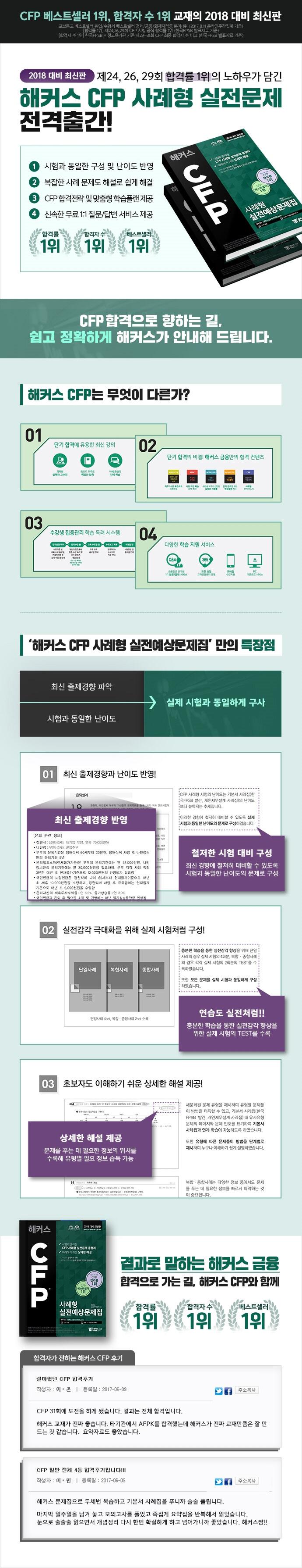 CFP 사례형 실전예상문제집(2018)(해커스) 도서 상세이미지