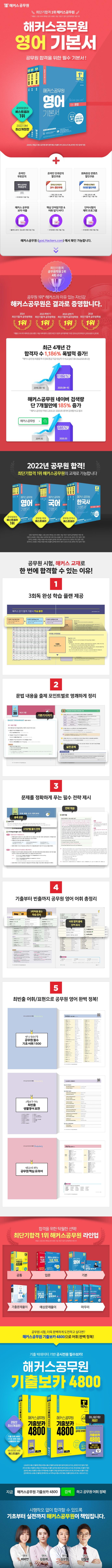 2022 해커스공무원 영어 기본서 세트(전3권) 도서 상세이미지
