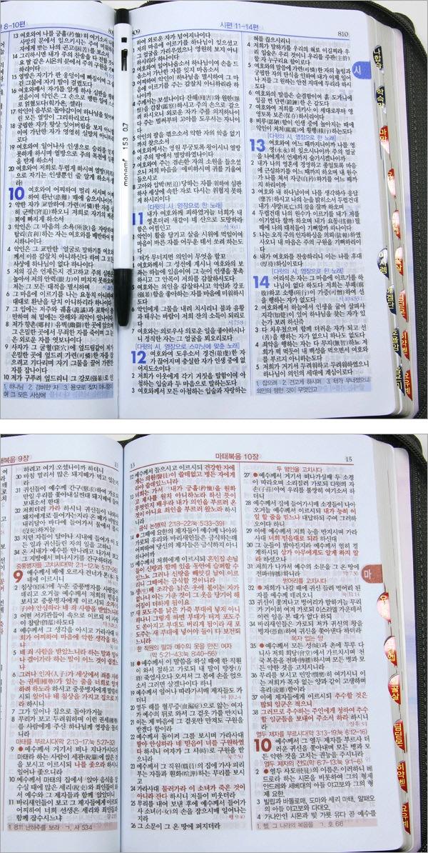 빅 슬림 성경전서(슬림)(중)(지퍼)(단본)(아쿠아블루)(개역한글) 도서 상세이미지