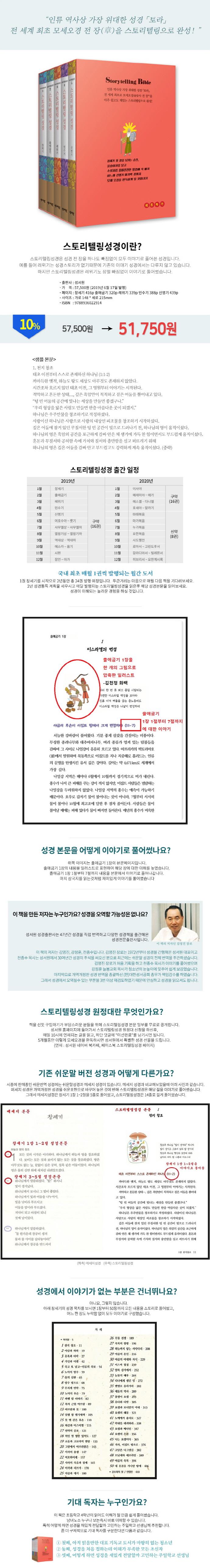 스토리텔링성경 모세오경 세트(Special edition)(전5권) 도서 상세이미지