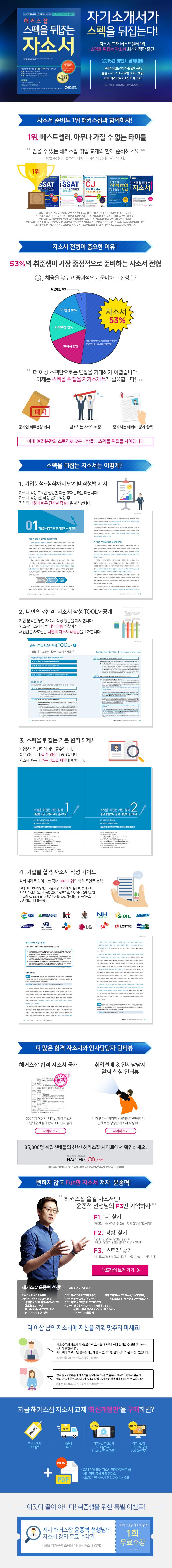 스펙을 뒤집는 자소서 (2015 하반기 공채 대비)(해커스잡)(개정판) 도서 상세이미지