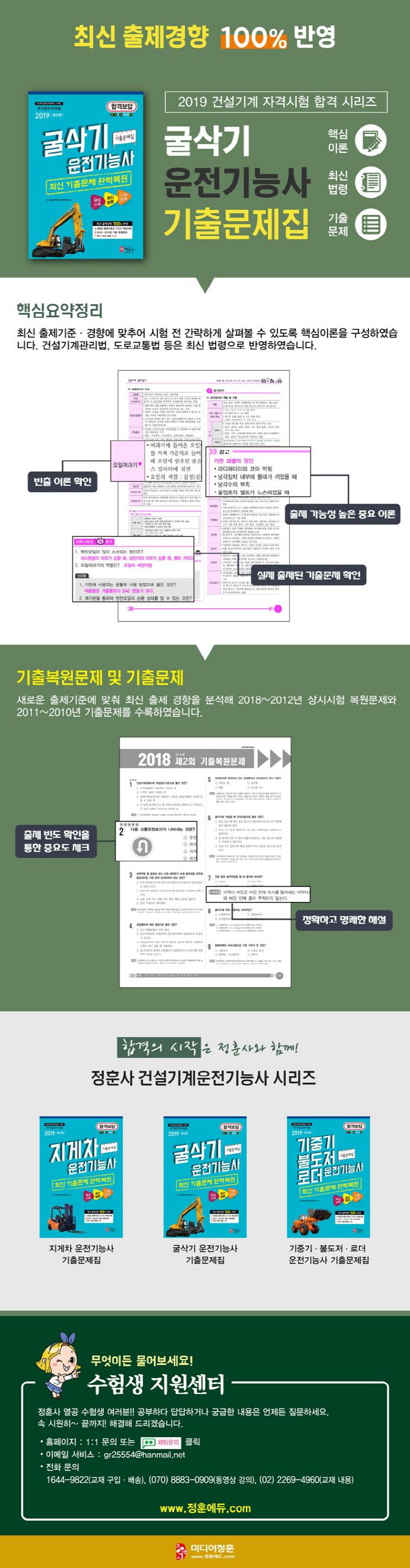 굴삭기 운전기능사 기출문제집(2019)(8절) 도서 상세이미지