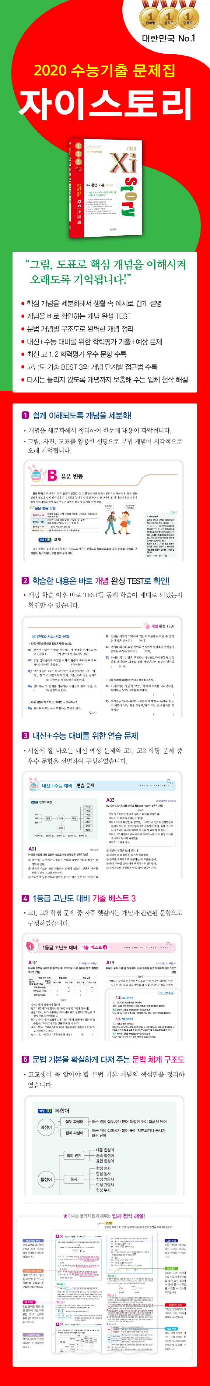 고등 국어 문법 기본1193제(2020)(자이스토리) 도서 상세이미지