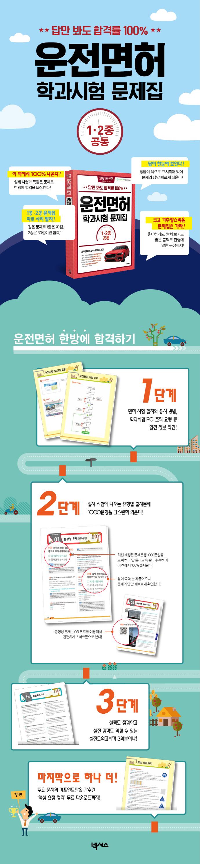 운전면허 학과시험 문제 1종 2종 공통(2021)(답만 봐도 합격률 100%) 도서 상세이미지