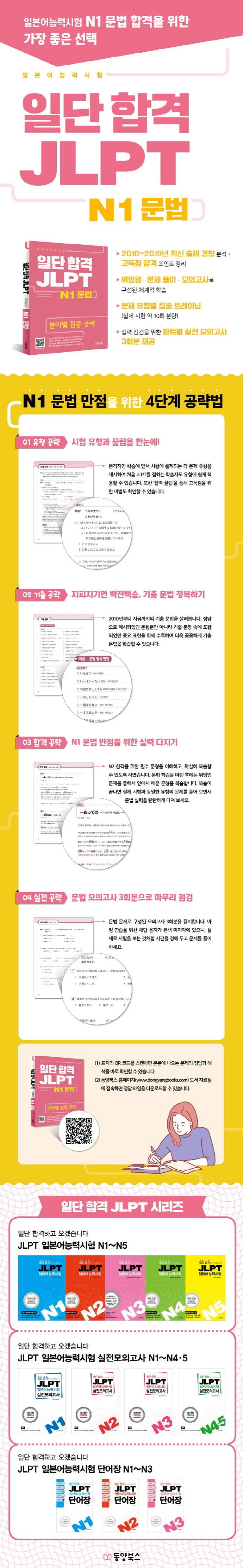 일단 합격 JLPT 일본어능력시험 N1 문법 도서 상세이미지