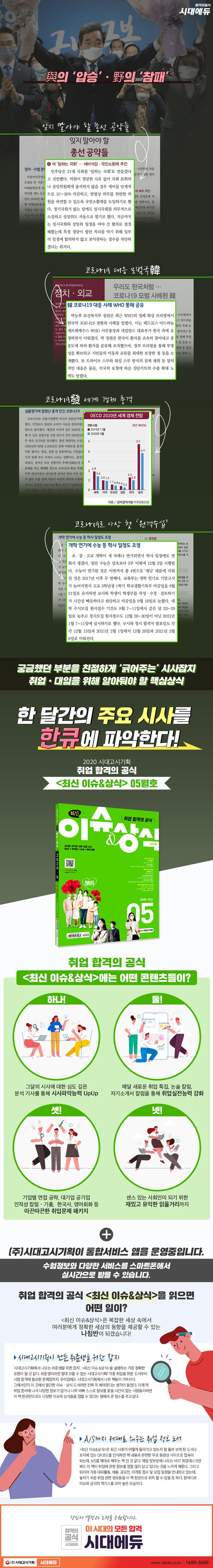 최신 이슈&상식(2020년 5월호 제159호) 도서 상세이미지