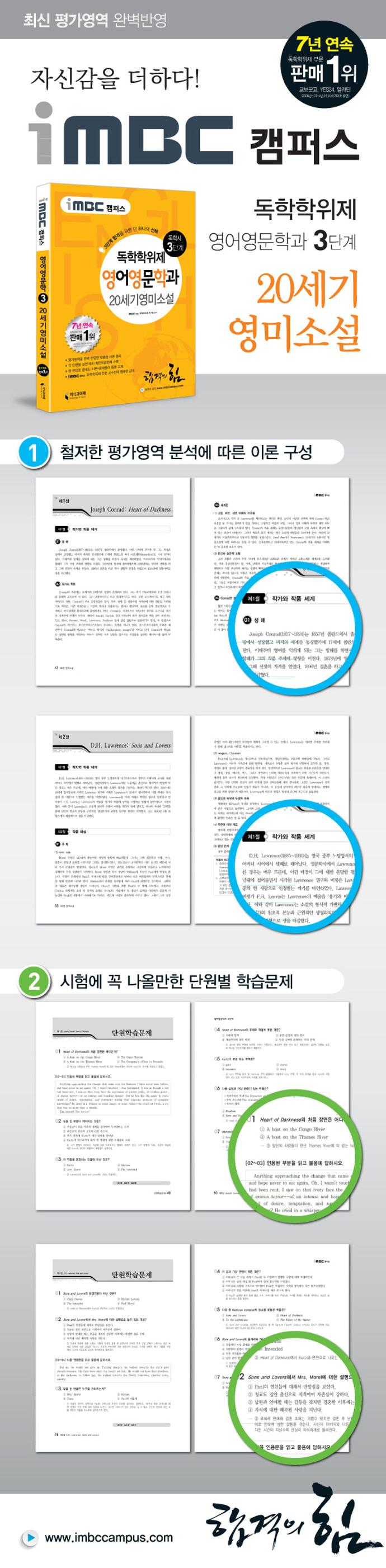 20세기영미소설(독학학위제 독학사 영어영문학과 3단계)(iMBC 캠퍼스) 도서 상세이미지