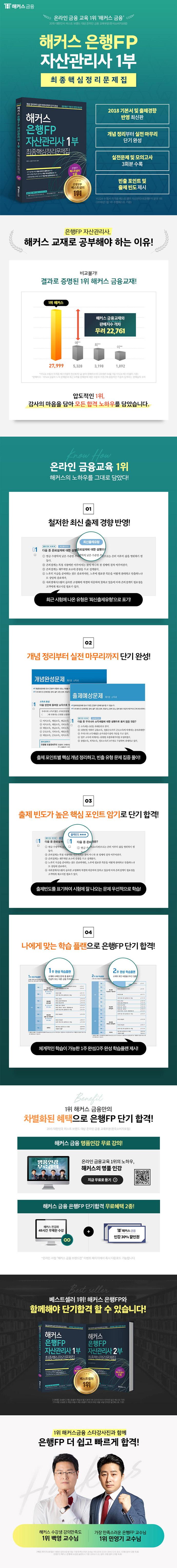 해커스 은행FP 자산관리사 1부 최종핵심정리문제집(2018) 도서 상세이미지