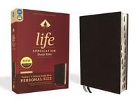 [해외]Niv, Life Application Study Bible, Third Edition, Personal Size, Bonded Leather, Black, Indexed, Red Letter Edition (Bonded Leather)