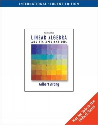 Linear Algebra and Its Applications (International Student Edition)