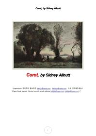 카미유 코로 프랑스화가.Corot, by Sidney Allnutt