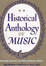 Historical Anthology of Music (Vol.2 )