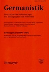Germanistik, Sachregister (1990-1994)