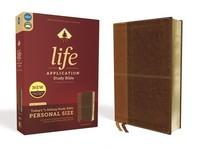 [해외]Niv, Life Application Study Bible, Third Edition, Personal Size, Leathersoft, Brown, Red Letter Edition (Imitation Leather)