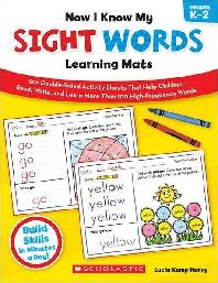 [해외]Now I Know My Sight Words Learning Mats, Grades K-2