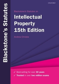 [해외]Blackstone's Statutes on Intellectual Property