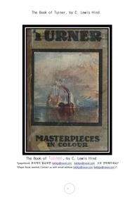 터너 영국풍경화가.The Book of Turner, by C. Lewis Hind
