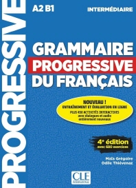 (17신판)Grammaire progressive du francais - Niveau intermediaire - 4eme edition - Livre + CD + Livre