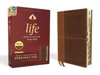 [해외]Niv, Life Application Study Bible, Third Edition, Personal Size, Leathersoft, Brown, Indexed, Red Letter Edition (Imitation Leather)