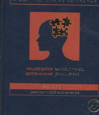 Learning And Memory: A Comprehensive Reference (4Vols)