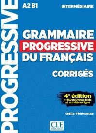 (17신판)Grammaire progressive du francais - Niveau intermediaire - Corriges - 4eme dition