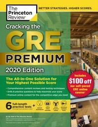 Cracking the GRE Premium Edition with 6 Practice Tests, 2020(Paperback)(Paperback)