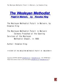 멜버른에서 웨슬리 감리교도.The Wesleyan Methodist Pulpit in Malvern, by Knowles King