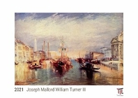[해외]Joseph Mallord William Turner III 2021 - White Edition - Timocrates wall calendar with US holidays / picture calendar / photo calendar - DIN A3 (42 x 30 cm)