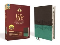[해외]Niv, Life Application Study Bible, Third Edition, Personal Size, Leathersoft, Gray/Teal, Indexed, Red Letter Edition (Imitation Leather)