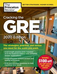 Cracking the GRE with 4 Practice Tests, 2020 Edition(Paperback)