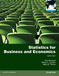 Statistics for Business and Economics 8 (Paperback)