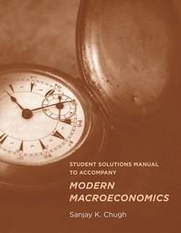 [해외]Student Solutions Manual to Accompany Modern Macroeconomics
