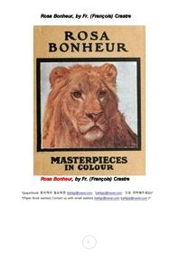 로사 보뇌르 프랑스 여성 동물화가.Rosa Bonheur, by Fr. (Francois) Crastre