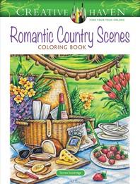 [해외]Creative Haven Romantic Country Scenes Coloring Book