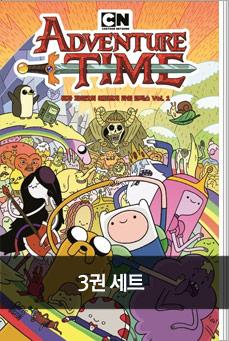 핀과 제이크의 어드벤처 타임 코믹스 + 백과사전 세트