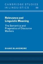 [해외]Relevance and Linguistic Meaning (Hardcover)
