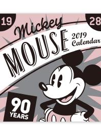 미키 마우스 90주년 기념 벽걸이달력(2019)