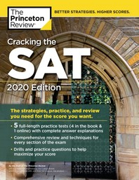 Cracking the SAT with 5 Practice Tests, 2020 Edition(Paperback)