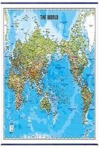 세계지도(영문)(지세)