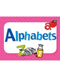 생활 영어 단어 카드 - 명사편 01. Alphabets